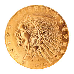 Tribute To America S Most Beautiful Coins 5 Indian Head Gold Piece 1908 1929 Replica Coin